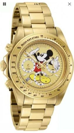 Invicta Men's 25196 Disney Mickey Mouse Gold Stainless Steel