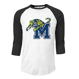 GUC Men's 3/4 Sleeve Tees - University Of Memphis Tiger Blac