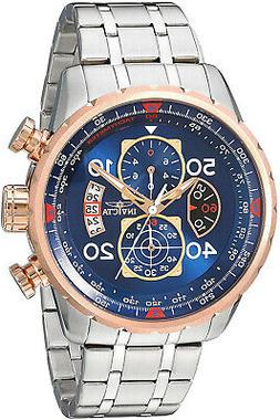 Invicta Mens 17203 AVIATOR Stainless Steel And 18k Rose Gold