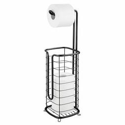mDesign Metal Toilet Paper Stand Holder/Dispenser - Holds 3