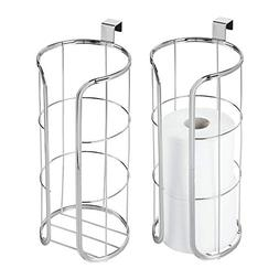 mDesign Modern Over The Tank Hanging Toilet Tissue Paper Rol