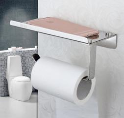 Wall Mount Toilet Tissue Paper Holder Mobile Phone Storage R