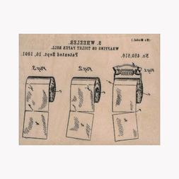 Mounted Rubber Stamp, Toilet Paper, Toilet Paper Roll Patent