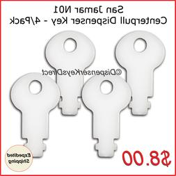 San Jamar N01 Dispenser Key for T400 Series Centerpull Dispe