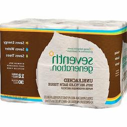 SEVENTH GENERATION Natural Unbleached 100% Recycled Bath Tis