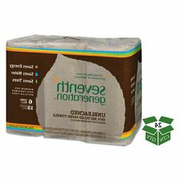 Natural Unbleached 100% Recycled Paper Towel Rolls, 11 x 9,