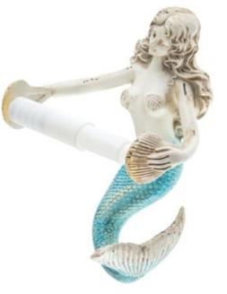 NAUTICAL HOME DECOR RUSTIC MERMAID TOILET PAPER HOLDER New