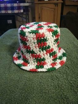 New Hand Made Crochet Toilet Paper Cover Holiday Glitter