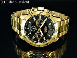 NEW Invicta Men's 45mm Specialty Chronograph 18K Gold Plated