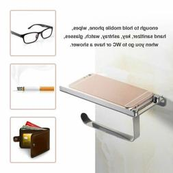 NEW Square Tissue Roll Toilet Paper Holder Cover  Stainless