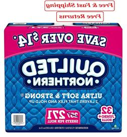 New Quilted Northern Ultra Soft & Strong Toilet Paper 32 rol