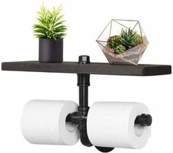 NEX Industrial Wall Mounted Toilet Paper Holder Dispenser wi