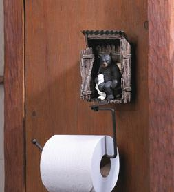 """Outhouse Bear Toilet Paper Holder """" For A Chuckle or Two"""""""