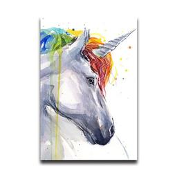 Flipped Summer Art Painting Unicorn Wall Art Home Bathroom D
