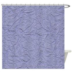 CafePress Wrinkled Periwinkle Purple Paper Texture Shower Cu