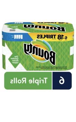 Bounty Paper Towels, Select-A-Size, 6 Triple Rolls Free Ship