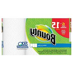 Bounty Paper Towels,Select-A-Size, White, 6 Huge Rolls,