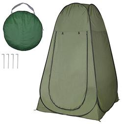 AW 77x46x46 Portable Changing Pop Up Green Toilet Tent Camp