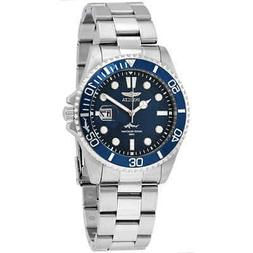 Invicta Pro Diver Quartz Blue Dial Stainless Steel Men's Wat