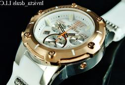 Invicta Men's 'Speedway' Quartz Stainless Steel and Silicone