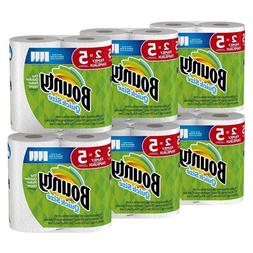 Bounty Quick-Size Paper Towels  12 Family Rolls   White   Fr