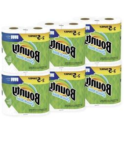 Bounty Quick-Size Paper Towels, White, 12 Family Rolls = 30