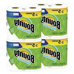 Bounty Quick-Size Paper Towels, White, 8 Family Rolls = 20 R