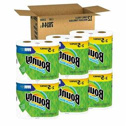 Bounty Quick-Size Paper Towels,White,Bathroom toilet 12 Coun