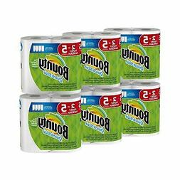 Bounty Quick-Size Paper Towels, White, Family Rolls, 12 Coun