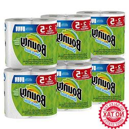 Quick-Size Paper Towels, White, Family Rolls, 12 Count, Equa