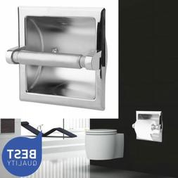 Recessed Toilet Paper Holder - Polished Chrome Modern Luxury