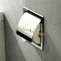 Recessed Toilet Tissue Paper Holder Towel Stainless Steel Ro