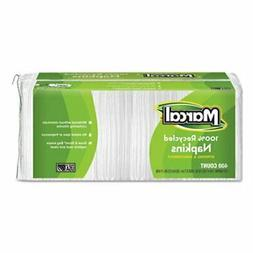 100% Premium Recycled Luncheon White Napkins