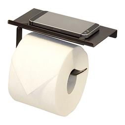 Neater Nest Reversible Toilet Paper Holder with Phone Shelf,