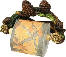 Rivers Edge Pinecone Wall Mount Toilet Paper Holder Man Cave