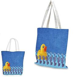 Rubber Duck canvas laptop bag Rubber Duck Floating on Paper