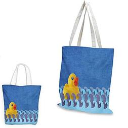 Rubber Duck shopping bag Rubber Duck Floating on Paper Seem