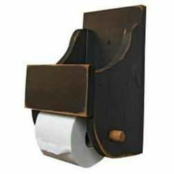Rustic Country Black Wood Toilet Paper Holder