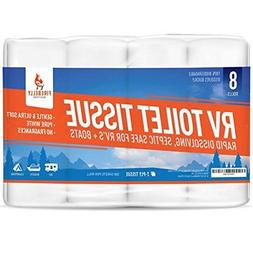 RV Toilet Paper Septic Tank Safe 8 Pack 2 Ply 500 Sheets Fas