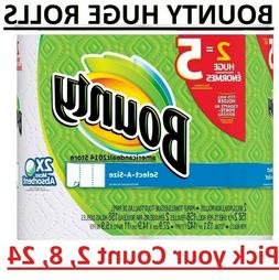 Bounty Select-a-Size Paper Towels -   2, 8, 12, 24 Rolls Cou