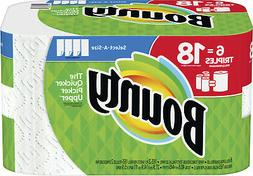 Bounty Select-A-Size Paper Towels, White, 6 Triple Rolls = 1