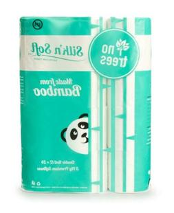 Silkn Soft Bamboo Tree-Free 3-Ply, Double Roll Toilet Paper
