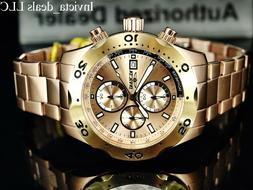 Invicta Men's Specialty Chronograph 18k Gold Plated Steel Ro