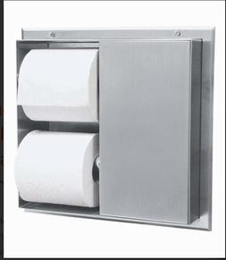 Bobrick 386 304 Stainless Steel Partition-Mounted Multi-Roll