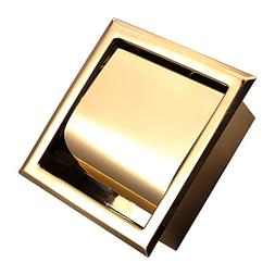 Stainless Steel Recessed Toilet Paper Holder Rose Gold Hotel