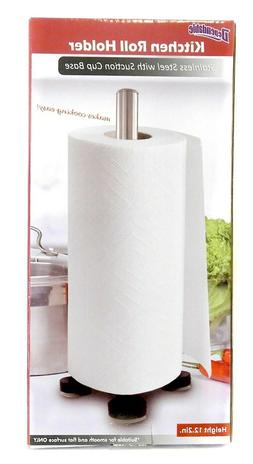 Stainless Steel Suction Cup Paper Towel Holder Spare Toilet