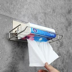 Stainless Steel Toilet Paper Holder with Storage Shelf Wall