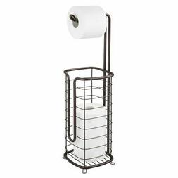 mDesign Free Standing Toilet Paper Holder Stand and Dispense