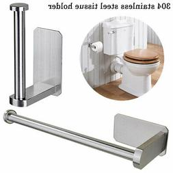 Steel Kitchen Bathroom Toilet Roll Holder Wall Mounted Rack