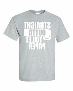 STRAIGHT OUTTA TOILET PAPER Grey T-Shirt Free Shipping